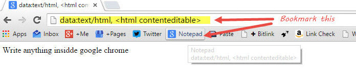 Browser Notepad