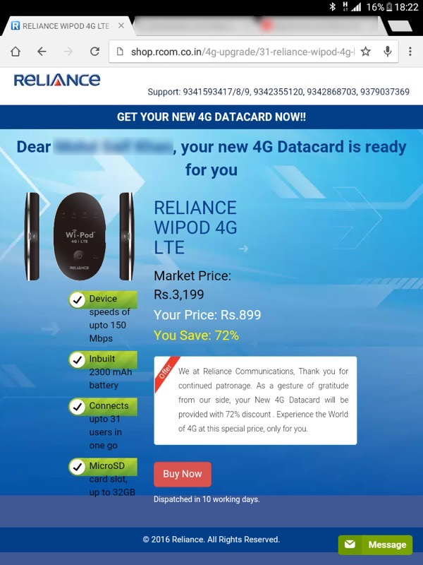 Know About Reliance Wi-Pod 4G Devices, Plans and How to Upgrade to