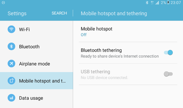 bluetooth hotspot using igap Features:- turn onturn data connection, wifi and bluetooth-  as igap voice call is p2p  a login on an unencrypted wireless hotspot networkor any other web.