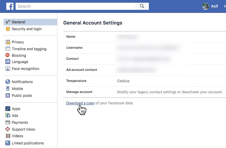 How to download your facebook data and delete facebook permanently this also helps you understand what are all the information facebook has about you before deleting your account ccuart Image collections