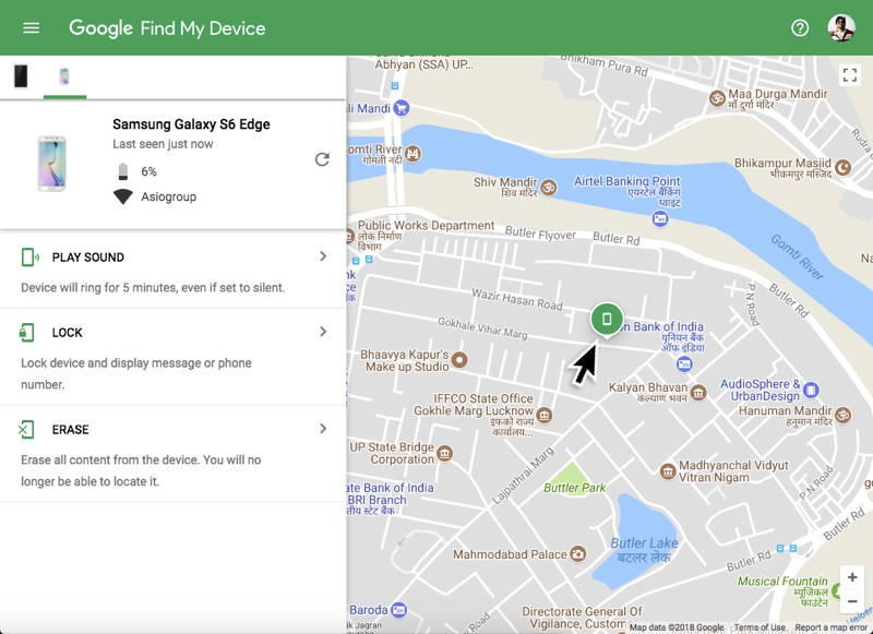 Find my device Android 01