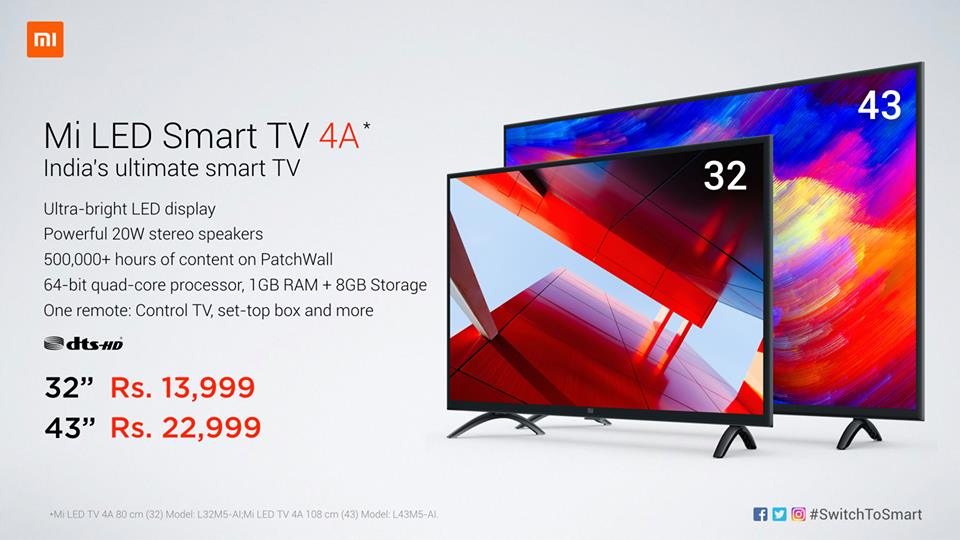 Mi LED Smart TVs Launched in India