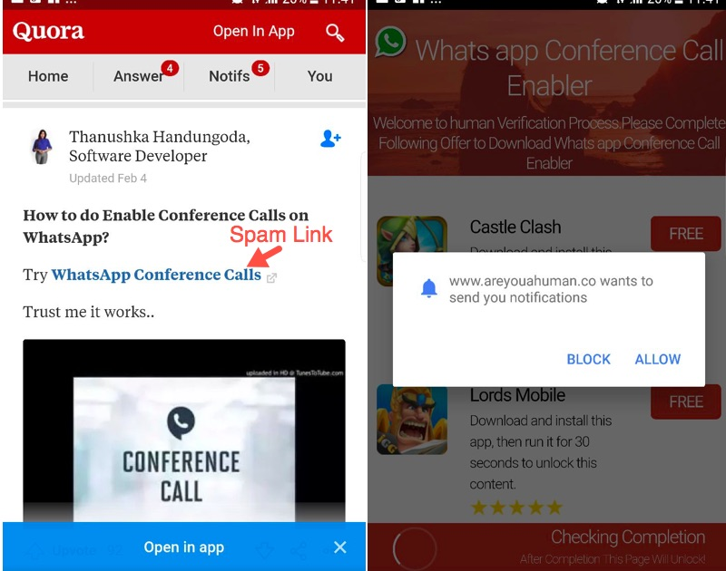 How to do group video calling in WhatsApp?