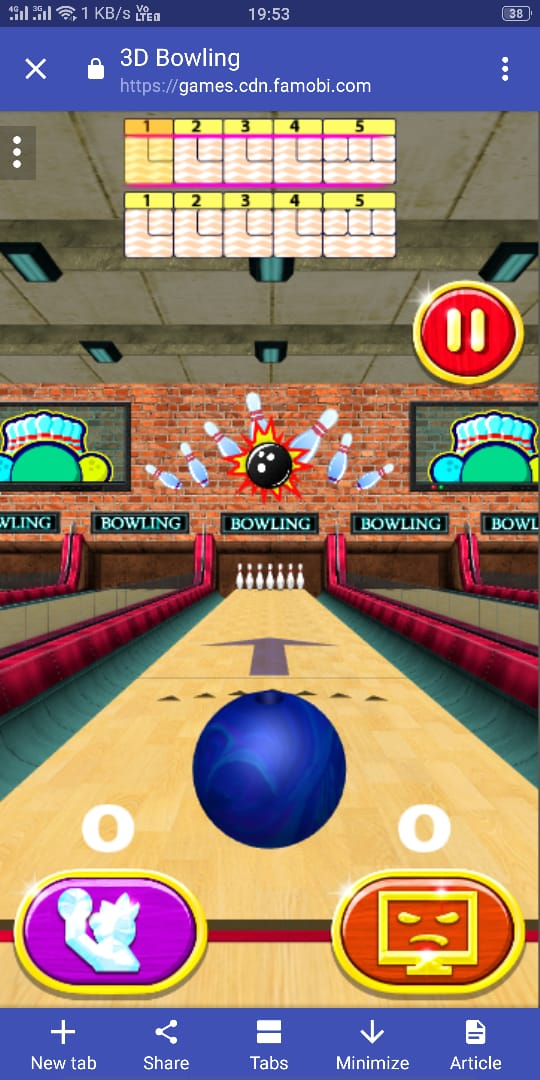 3D Bowling HTML5 Game