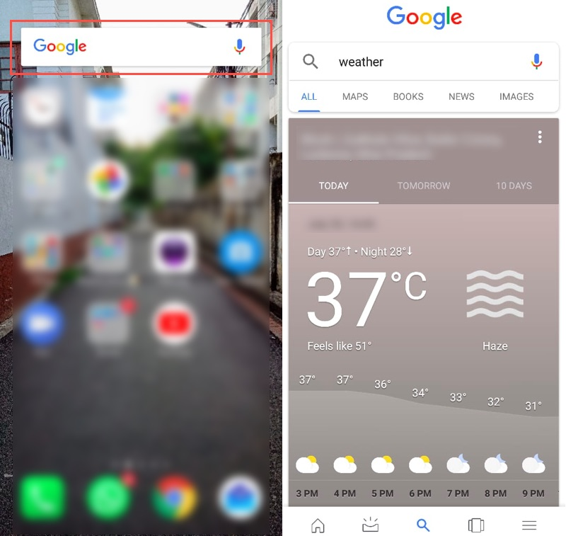 Google Assistant Weather Report