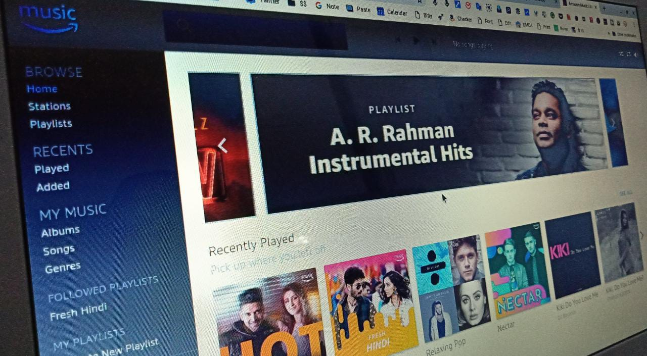 can you download amazon prime music playlists