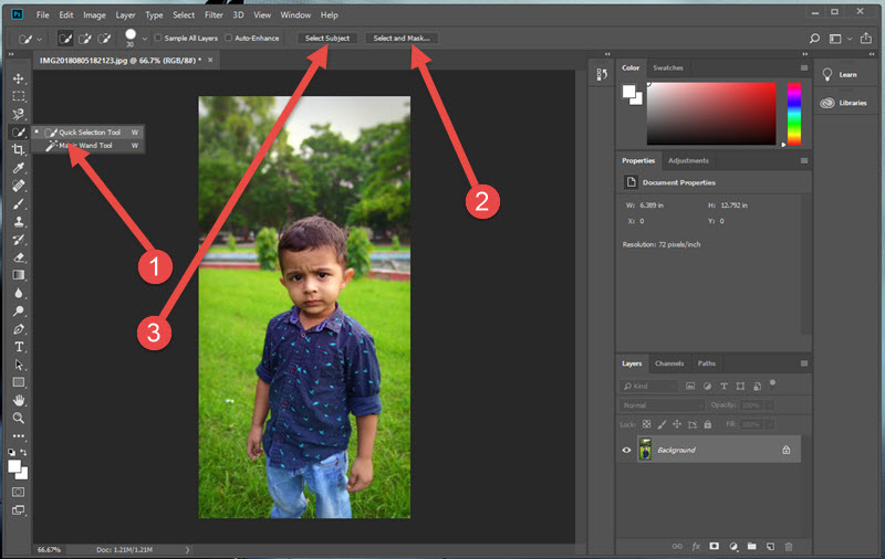 Remove Background from Photos in One Click with Photoshop CC