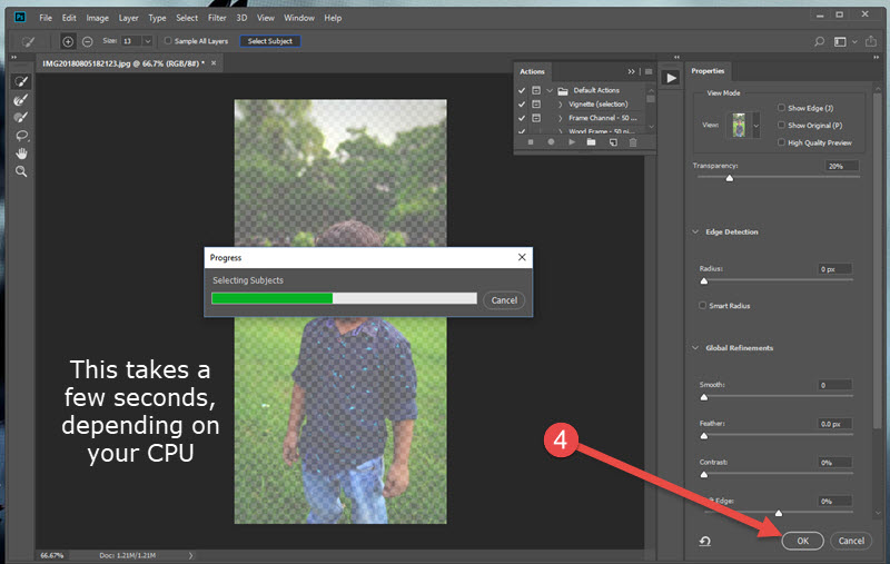 Remove Bg from Images in Photoshop CC