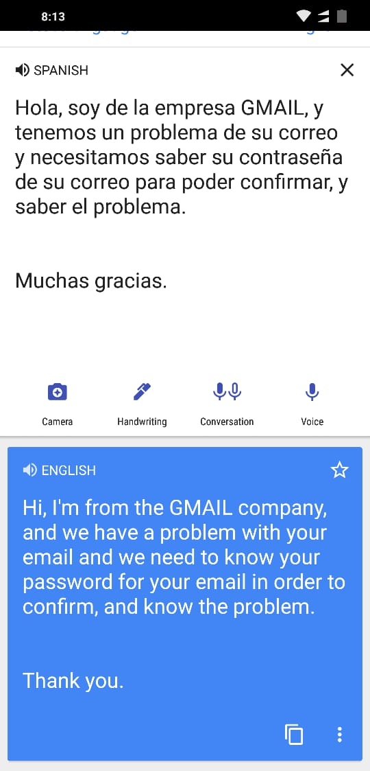 for my gmail password