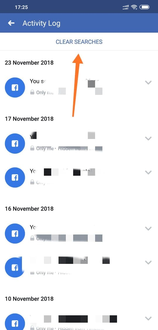 How to Clear Your Facebook Search History from Facebook App on Android