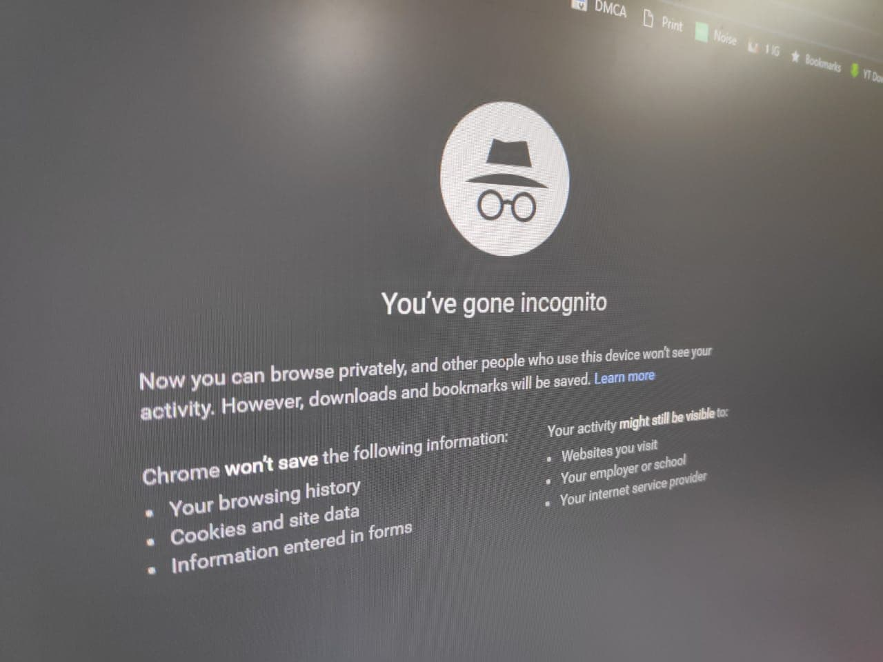 chrome extensions disable incognito