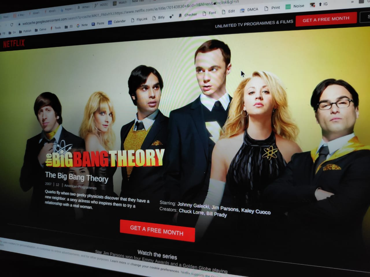 Best Apps / Services to Watch 'Big Bang Theory' All Episodes