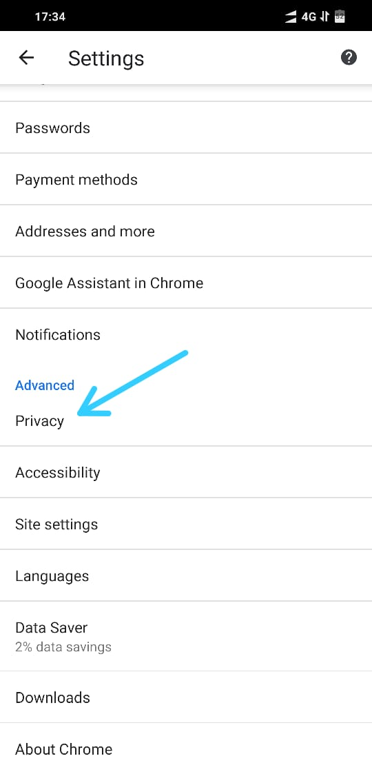Clear Browser Cache in Chrome for Android02