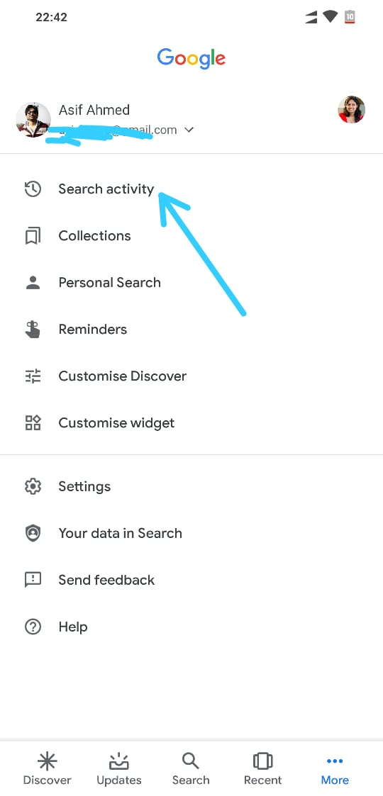 How to Delete Search History in Google App