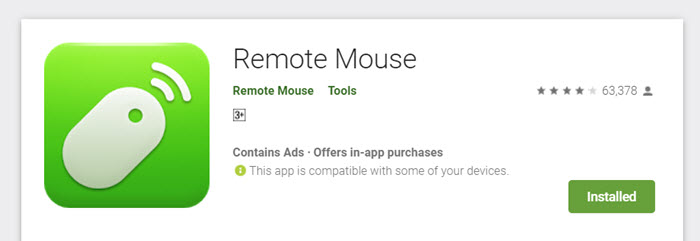 Install Remote Mouse App on Mobile