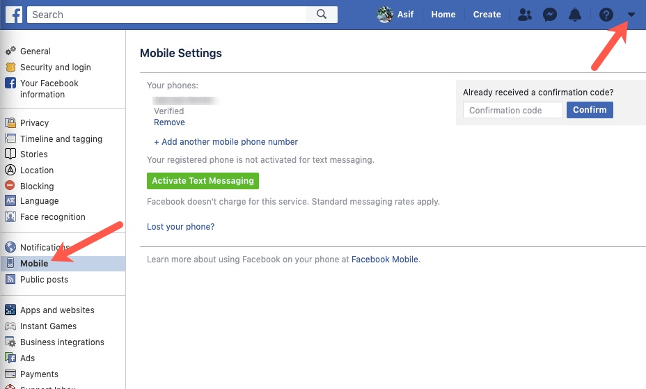 How to login to Facebook using your mobile number