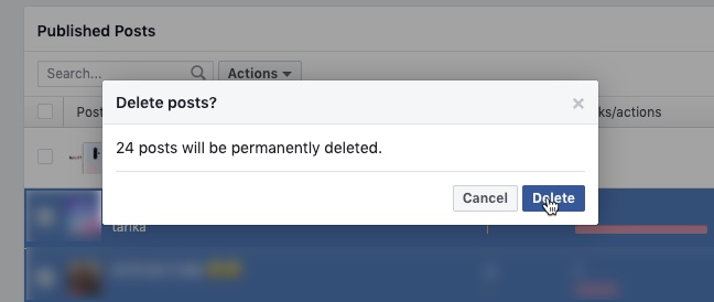 Delete Facebook Posts for Pages 03 - Techtippr