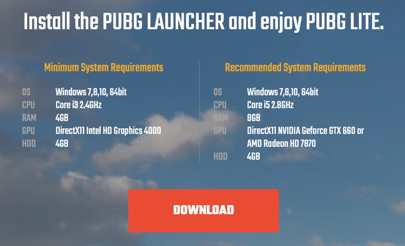 Download PUBG Lite for PC for Free (Available in Limited