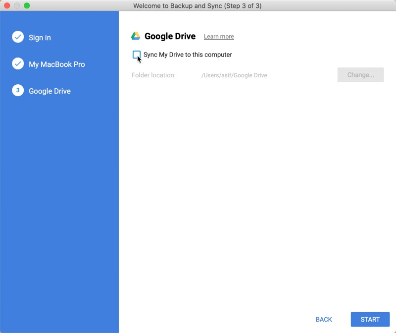Google backup and Synch App-3