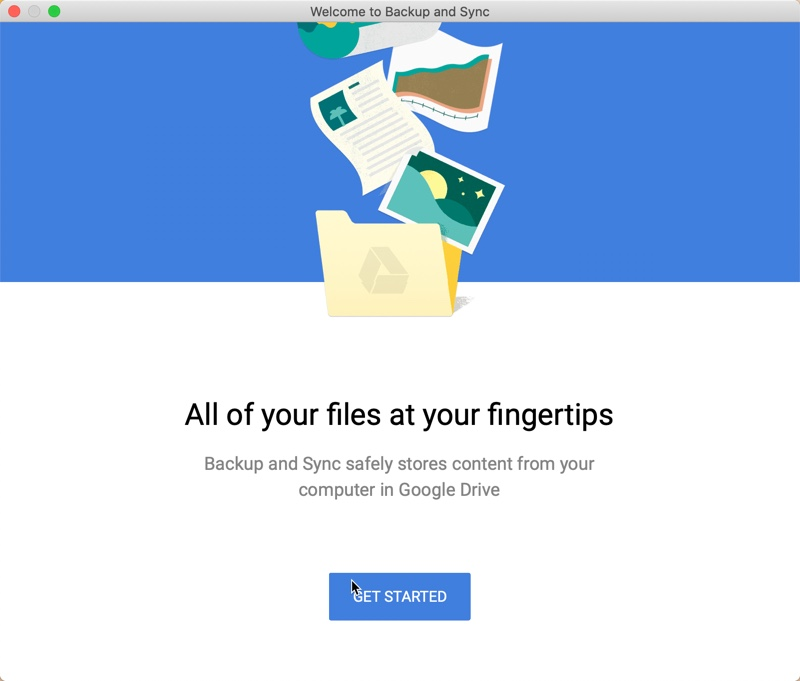 Google backup and Synch App01