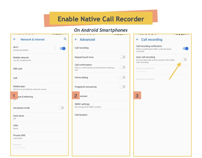 Enable Native Call Recorder