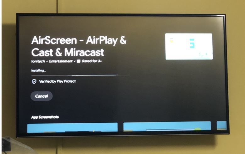 AirScreen App on Android TV for Airplay