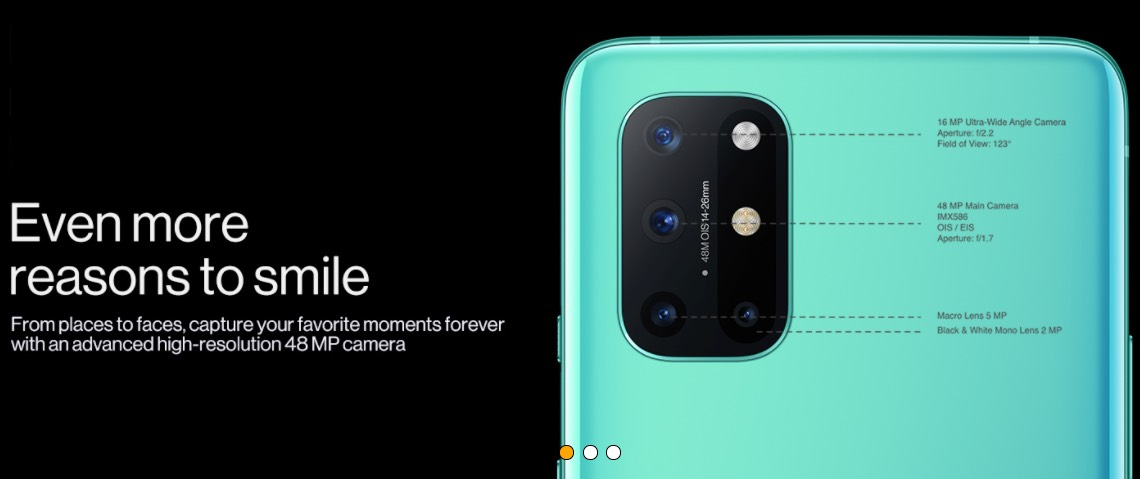 OnePlus 8T Smartphones with OIS