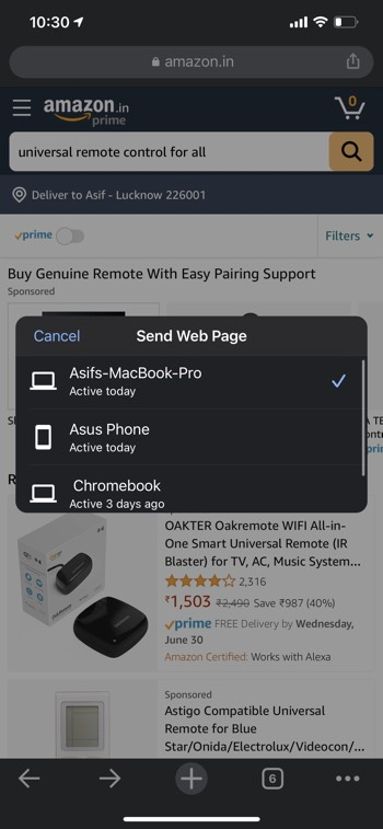 Send Webpages to other Devices 02